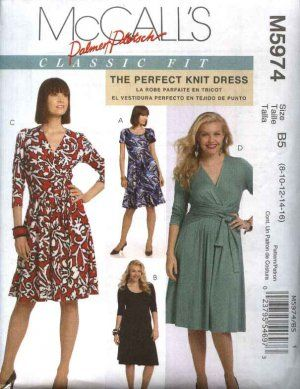 McCalls Sewing Pattern 5974 Womens Plus Size 18W-24W Classic Fit .
