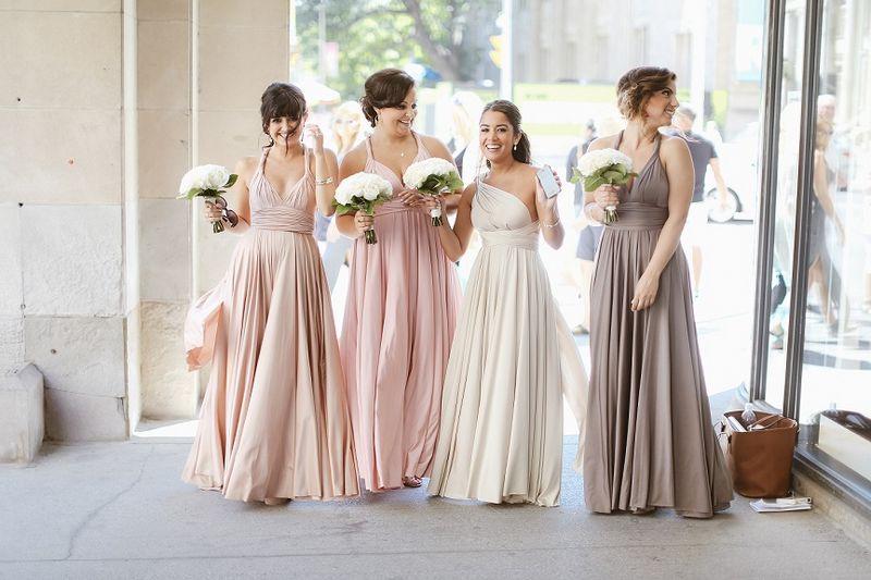 Set of 7 Pink, Whitr, GreyInfinity Dress, Floor Length Dress for .
