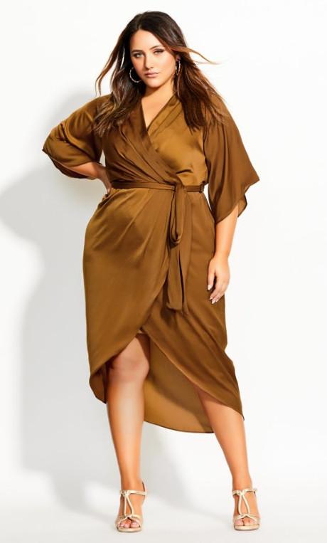 Shop Women's Plus Size Women's Plus Size Opulent Wrap Dress - go