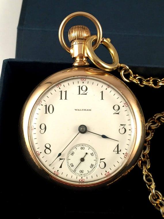 SUPERB RARE Vintage Pocket watch Waltham rare | Et