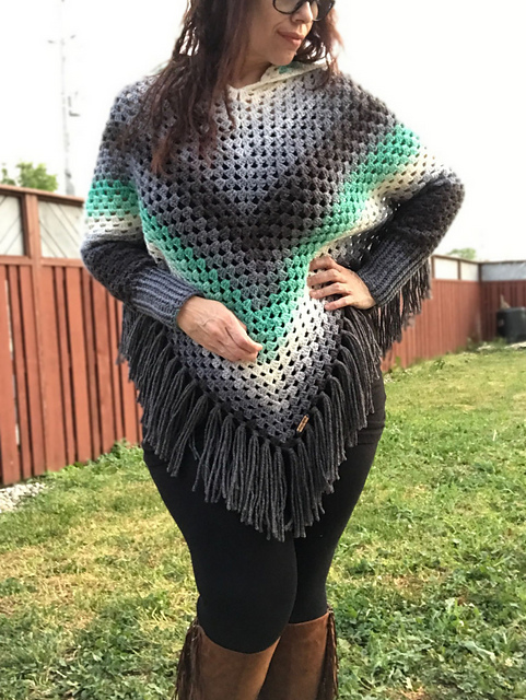 Ravelry: Lailah Hooded Swoncho pattern by Deni Shar