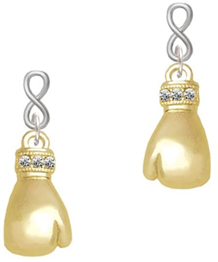 Amazon.com: Goldtone Large Boxing Glove Infinity Post Earrings .
