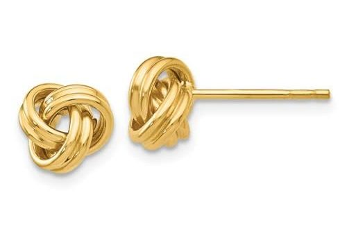 14kt Love Knot Post Earrings | Freedman Boston - Freedman Jewele
