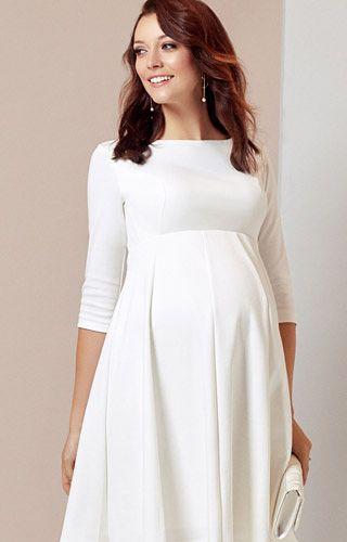Sienna Maternity Dress Short Cream - Maternity Wedding Dresses .