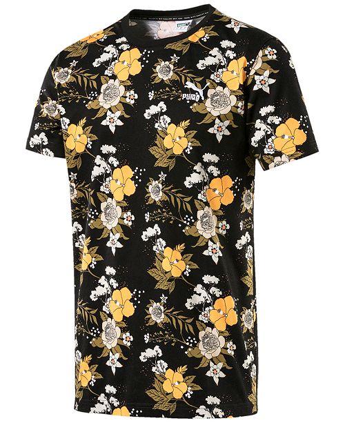 Puma Men's Printed T-Shirt & Reviews - T-Shirts - Men - Macy