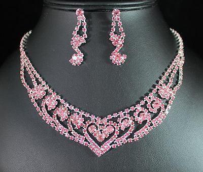 Bridal Prom Jewelry Set JEW-NN1150-Pink – Bouquets by Nico