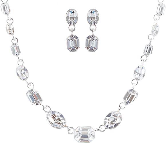Amazon.com: ACCESSORIESFOREVER Bridal Wedding Prom Jewelry Set .