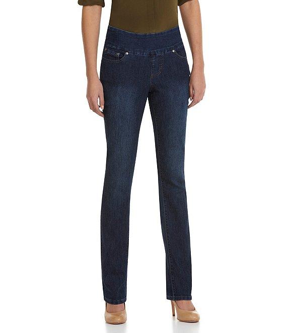 Jag Jeans Peri Straight-Leg Pull-On Jeans | Dillard