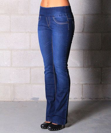 Look what I found on #zulily! Medium Wash Pull-On Stretch Bootcut .
