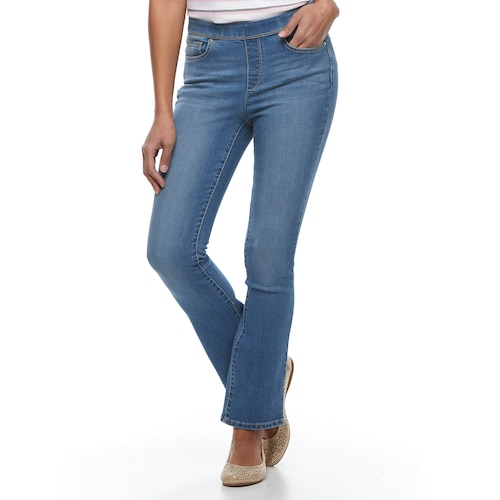 Women's Croft & Barrow® Pull-On Straight Leg Jea
