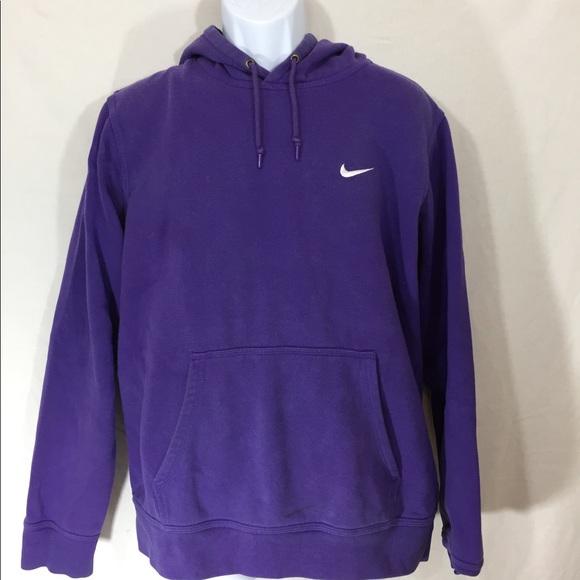 Nike Shirts | Club Swoosh Hoodie Purple Mens Size Large | Poshma