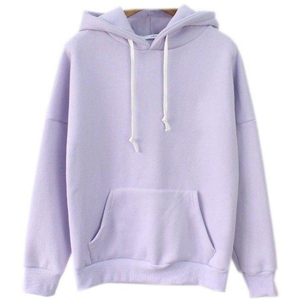 Cute Harajuku Pastel Lavender Hoodies Sweatshirts for Womens at .