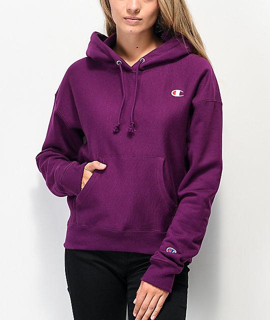 Champion Reverse Weave Venetian Purple Hoodie | Zumi