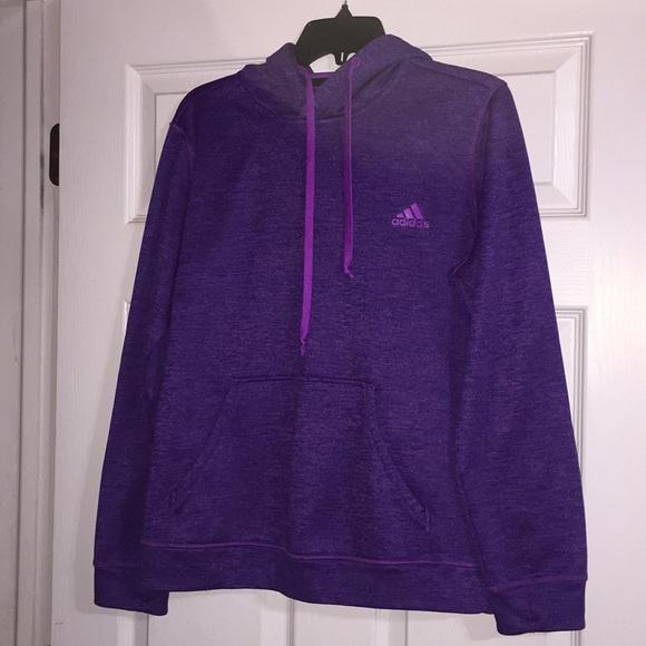 adidas Tops | Womens Purple Hoodie | Poshma