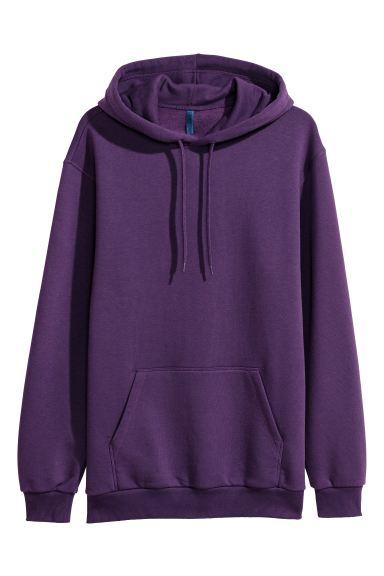 Hoodie - Dark purple - Men | H&M