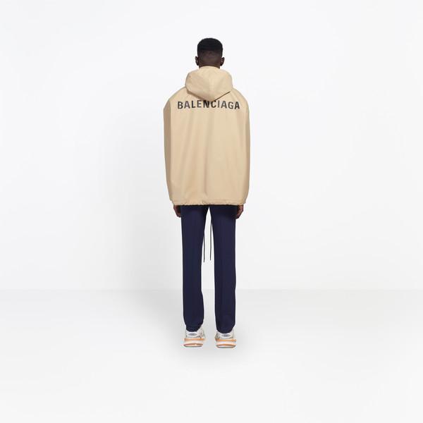 Logo Raincoat Sable for Men | Balencia