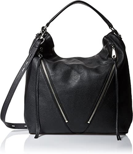 Amazon.com: Rebecca Minkoff Moto Hobo, Black: Clothi