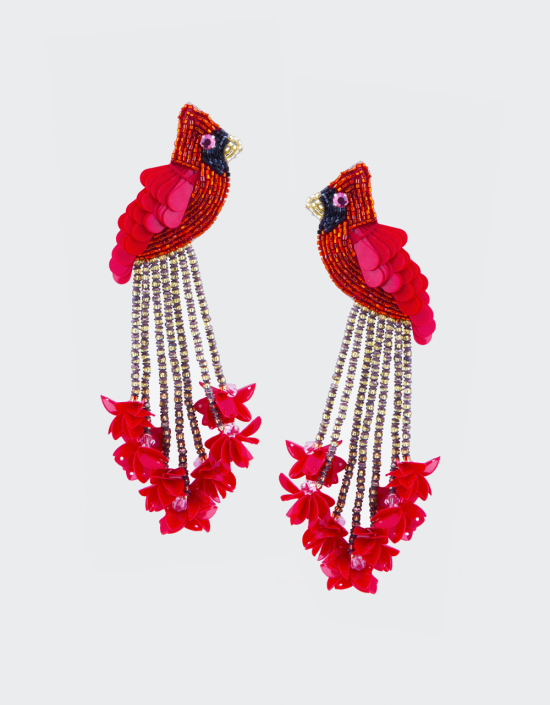 "Cardinal Earrings ""Red""- Olivia D"