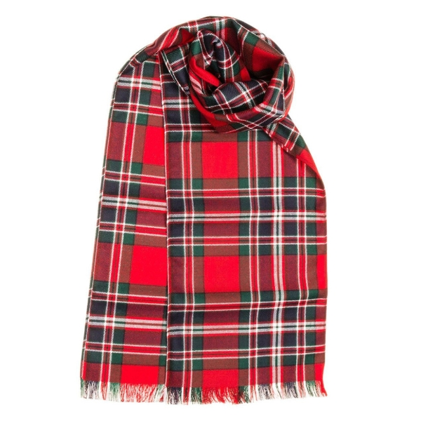 Tartan Scarf Made To Order: Ross Red Modern - Scottish Gifts .