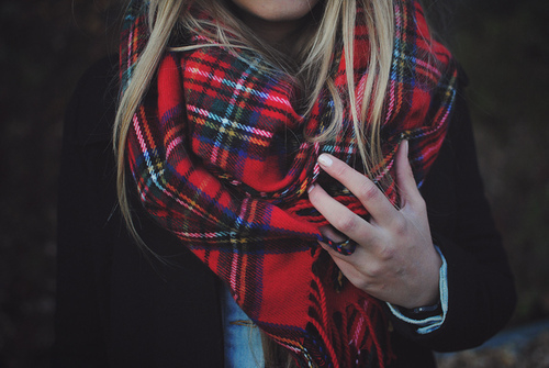 Red Tartan Scarf to protect you in winter - StyleSkier.c