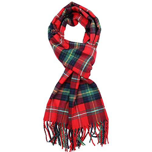 Red Plaid Scarves: Amazon.c
