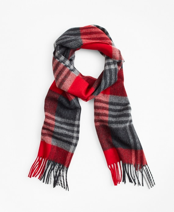 Red Tartan Scarf - Brooks Brothe