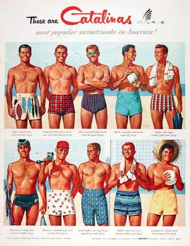 Vintage Men's Swimsuits - 1930s, 1940s, 1950s | Vintage swimsuits .