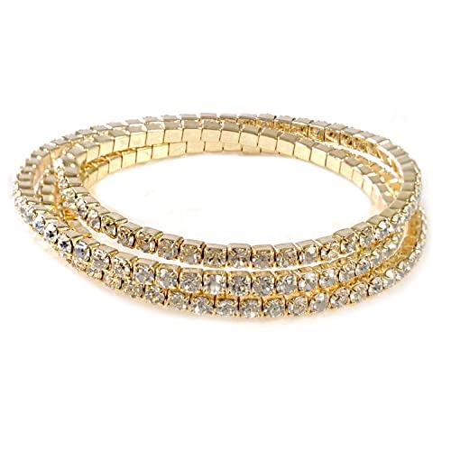 Gold Rhinestone Bracelets: Amazon.c