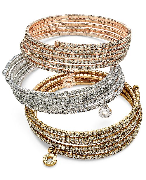 Anne Klein Multi-Row Rhinestone Bracelets & Reviews - Bracelets .