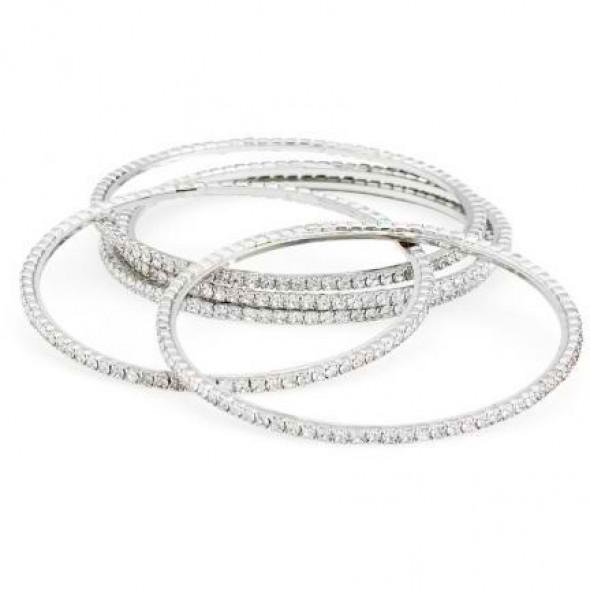 Jessica Rhinestone Bangle Bracelet