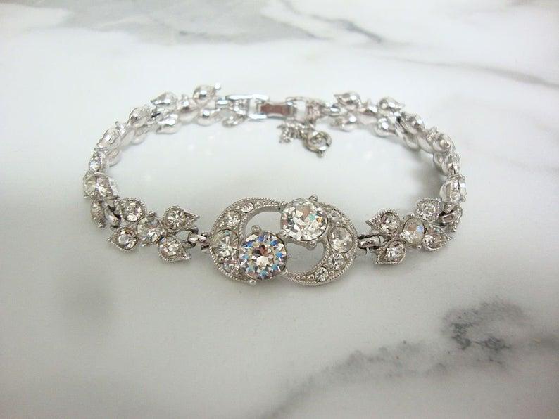 Vintage Rhinestone Bracelet Designer Henry Bogoff Jewelry | Et