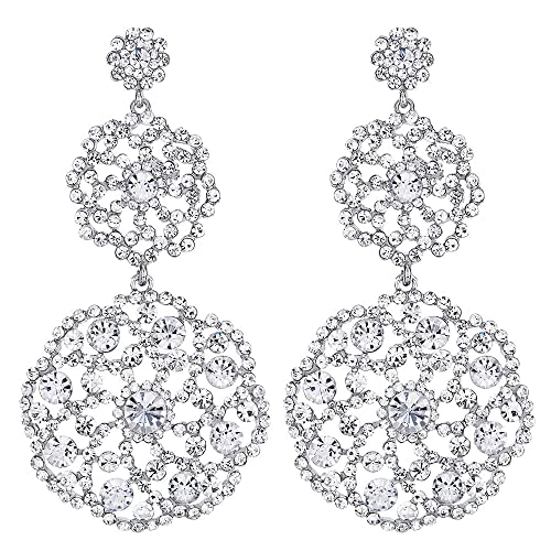 Large Rhinestone Earrings: Amazon.c