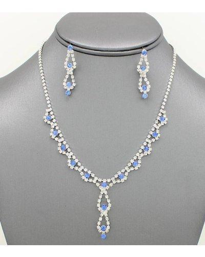 Dainty Rhinestone Necklace Set - ANGIE DAV