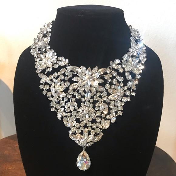 PERSIMMON Jewelry | Nwt Statement Rhinestone Necklace | Poshma
