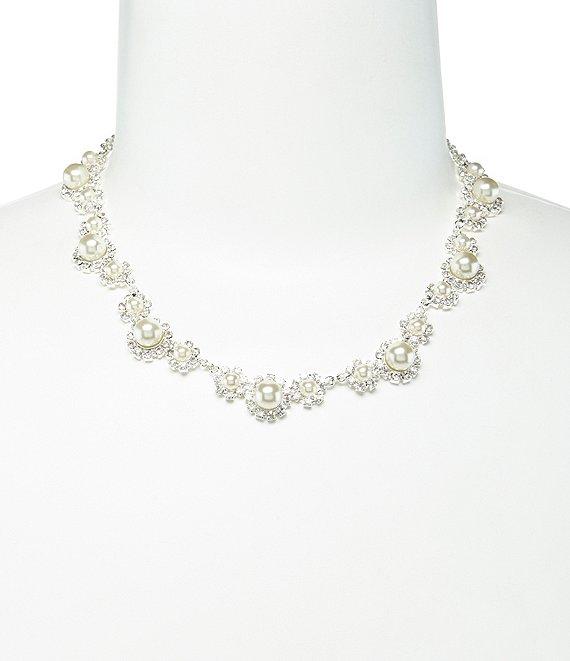 Cezanne Daisy Faux-Pearl & Rhinestone Necklace | Dillard