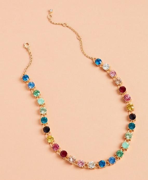 Rainbow Rhinestone Necklace - Brooks Brothe