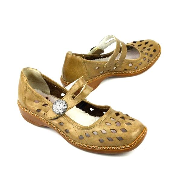 Rieker Shoes | Antistress Mary Jane Comfort Leather Shoe | Poshma