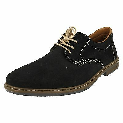 Mens Rieker Shoes 13410-16 Suede Lace Up In Navy Blue | eB
