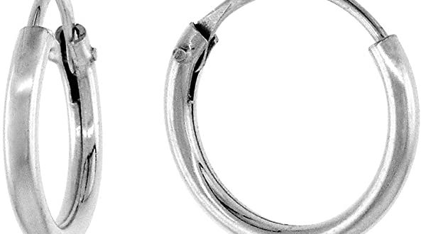 Amazon.com: Sterling Silver Small Endless Hoop Earrings for .
