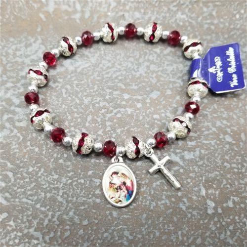 Christmas Rosary Bracelet | Red Rosary Bracel