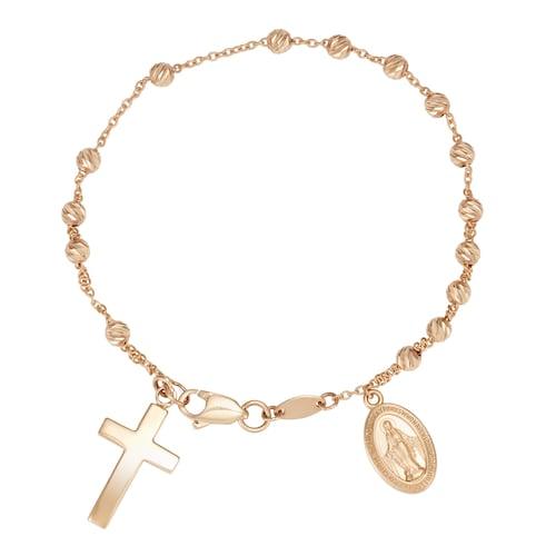 10k Gold Rosary Bracel