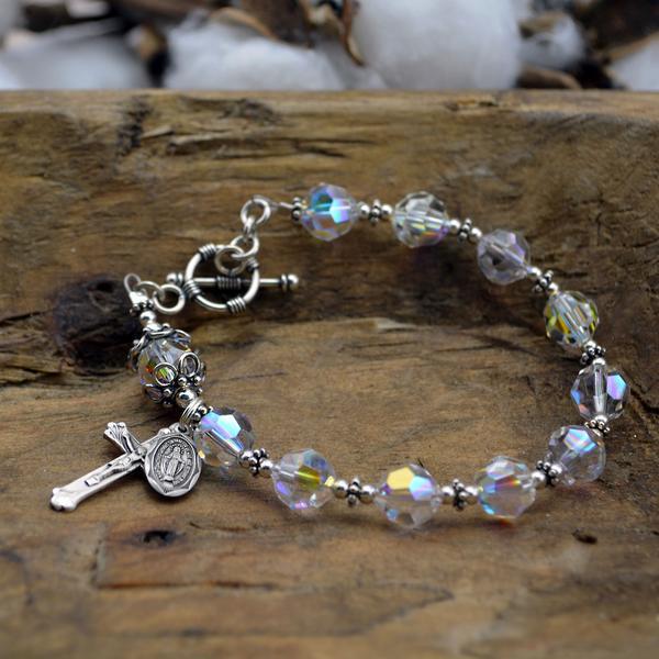 Swarovski Crystal Rosary Bracelet – HeavenlyBou
