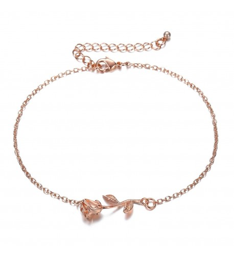 Rose Women Girls Anklets Jewelry - Rose Gold - CS188U5C9