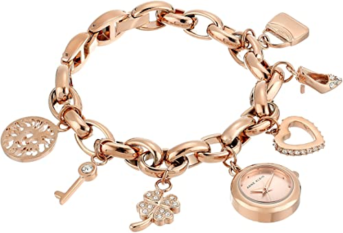 Amazon.com: Anne Klein Women's Swarovski Crystal Accented Rose .