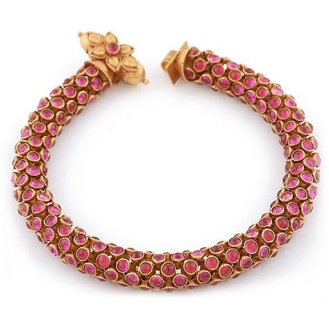 Beautiful antique ruby bracelet | Ruby bracelet, Jewelry, Ruby bangl