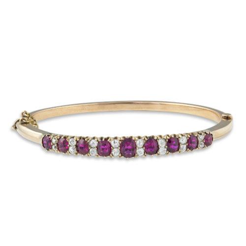 A Victorian ruby and diamond bangle - Bracelets, Modern Jewellery .