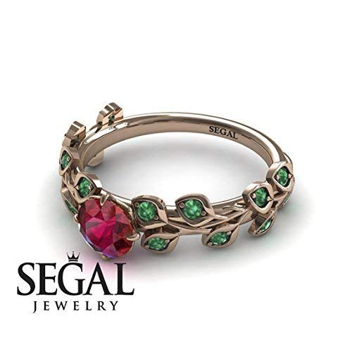 Amazon.com: Branch Engagement Ring - Rose Gold Ruby Engagement .