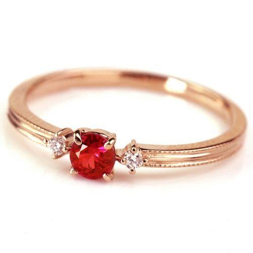 Simple and elegant ruby ring | Ruby ring designs, Wedding rings .