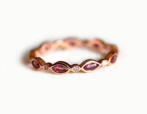 Amazon.com: Ruby Eternity Ring, Ruby Eternity Band, Marquise Ruby .