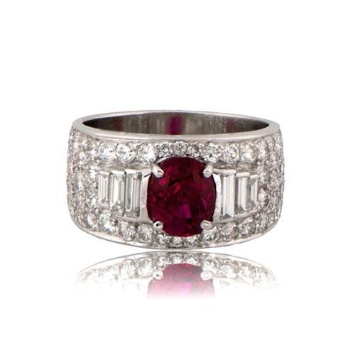 Vintage Bulgari Burmese Unheated Ruby Ring